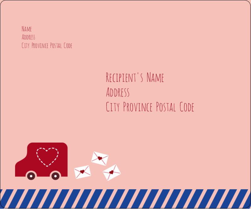 "3⅓"" x 4"" Shipping Label - Valentine Mail"