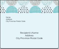 "3⅓"" x 4"" Shipping Label - Urban Circles Blue"