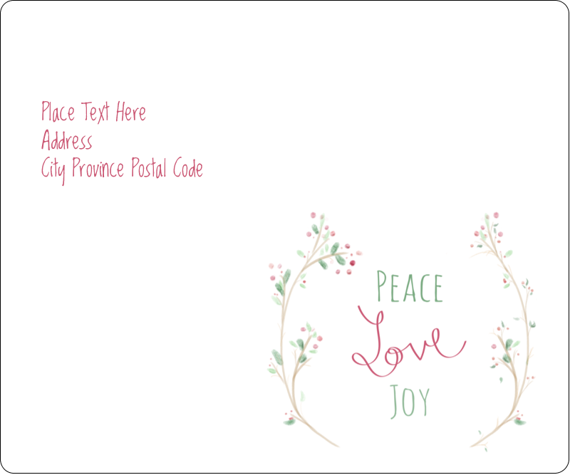 "3⅓"" x 4"" Shipping Label - Peace Love Joy"