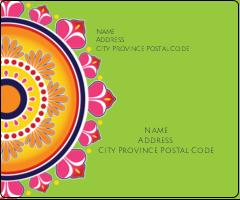 """3⅓"""" x 4"""" Shipping Label - Diwali Rangoli"""
