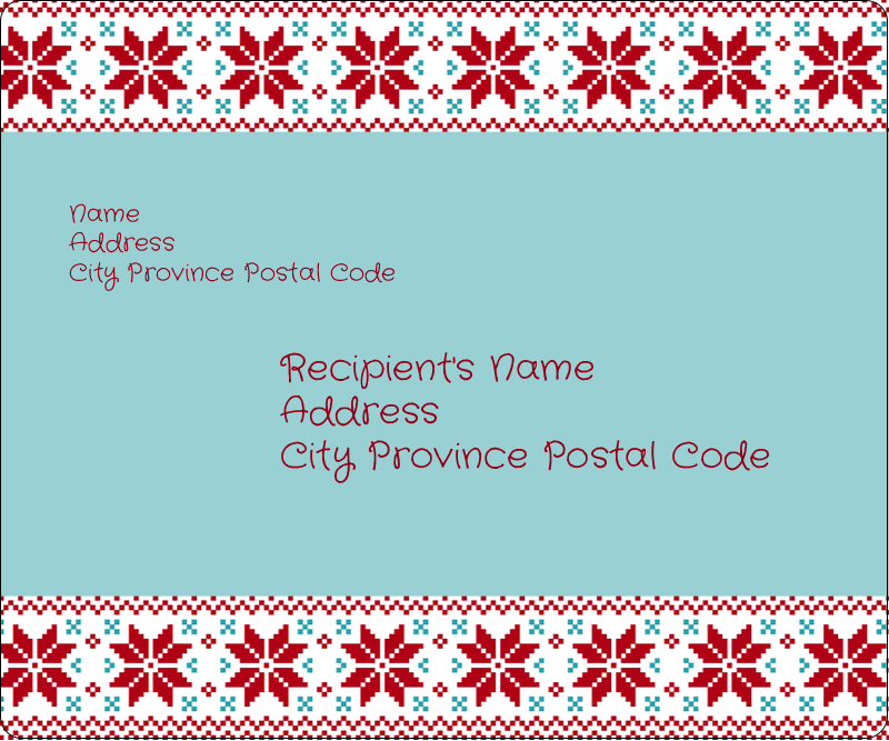 "3⅓"" x 4"" Shipping Label - Poinsettia Sweater"