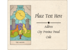 Bring the wisdom of the moon to custom projects with Halloween Tarot Cards templates.