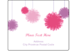Custom projects feel decidedly festive with pre-designed Party Poms templates.