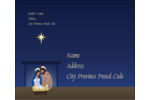Tis the season to rejoice with this Nativity template.