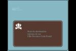 Bordure en brun et bleu Étiquettes d'expédition - gabarit prédéfini. <br/>Utilisez notre logiciel Avery Design & Print Online pour personnaliser facilement la conception.