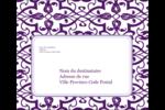 Motif de tourbillons violets Étiquettes d'expédition - gabarit prédéfini. <br/>Utilisez notre logiciel Avery Design & Print Online pour personnaliser facilement la conception.