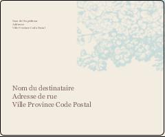 """3⅓"""" x 4"""" Étiquettes d'expédition - Fleur bleue"""
