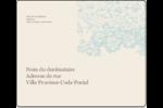 Fleur bleue Étiquettes d'expédition - gabarit prédéfini. <br/>Utilisez notre logiciel Avery Design & Print Online pour personnaliser facilement la conception.