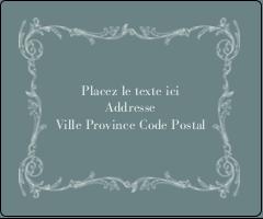 """3⅓"""" x 4"""" Étiquettes d'expédition - Cachet français"""