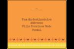 Fleurs orange géométriques Étiquettes d'expédition - gabarit prédéfini. <br/>Utilisez notre logiciel Avery Design & Print Online pour personnaliser facilement la conception.