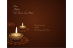 Lumières Divali Étiquettes d'expédition - gabarit prédéfini. <br/>Utilisez notre logiciel Avery Design & Print Online pour personnaliser facilement la conception.