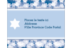 Étoile de David Judaism Étiquettes d'expédition - gabarit prédéfini. <br/>Utilisez notre logiciel Avery Design & Print Online pour personnaliser facilement la conception.