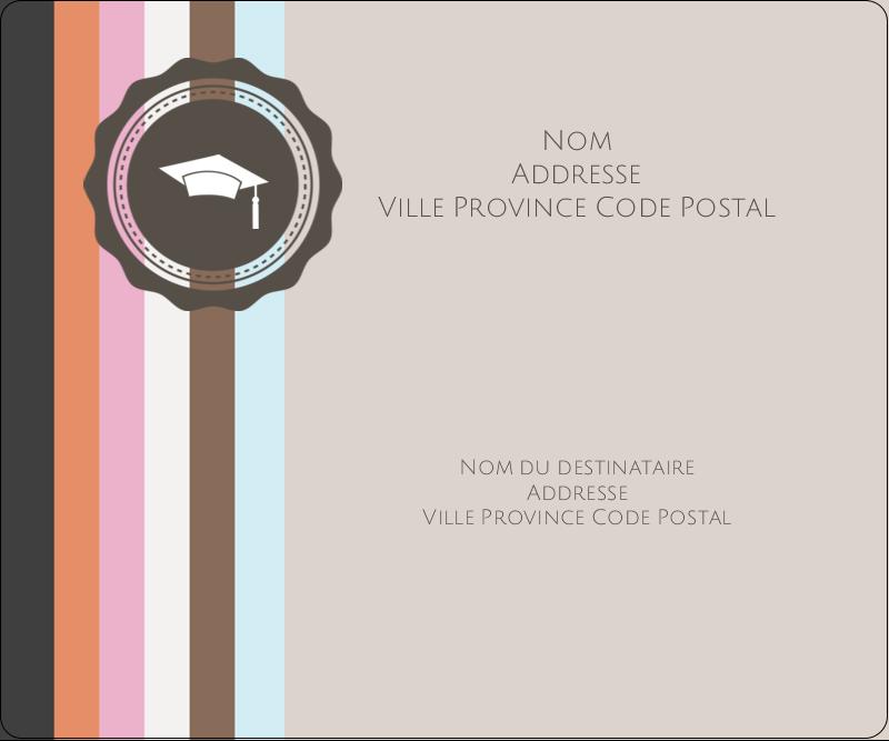 """3⅓"""" x 4"""" Étiquettes d'expédition - Mortier de diplômé"""