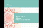 Napperon géométrique Étiquettes d'expédition - gabarit prédéfini. <br/>Utilisez notre logiciel Avery Design & Print Online pour personnaliser facilement la conception.