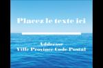 Ciel-océan Étiquettes d'expédition - gabarit prédéfini. <br/>Utilisez notre logiciel Avery Design & Print Online pour personnaliser facilement la conception.