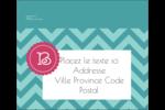 Monogramme en chevron Étiquettes d'expédition - gabarit prédéfini. <br/>Utilisez notre logiciel Avery Design & Print Online pour personnaliser facilement la conception.