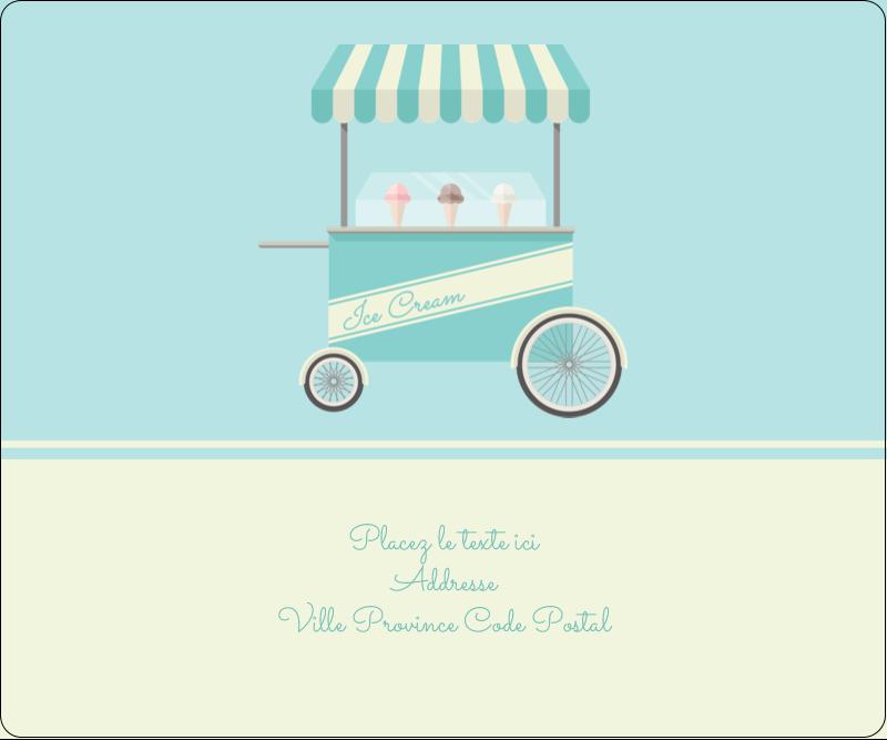 """3⅓"""" x 4"""" Étiquettes d'expédition - Chariot à crème glacée"""