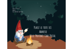 Gnome en camping Étiquettes d'expédition - gabarit prédéfini. <br/>Utilisez notre logiciel Avery Design & Print Online pour personnaliser facilement la conception.