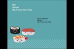 Émoticônes de sushis Étiquettes d'expédition - gabarit prédéfini. <br/>Utilisez notre logiciel Avery Design & Print Online pour personnaliser facilement la conception.