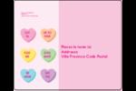 Bonbon en cœur de Saint-Valentin Étiquettes d'expédition - gabarit prédéfini. <br/>Utilisez notre logiciel Avery Design & Print Online pour personnaliser facilement la conception.