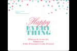 Les gabarits Happy Everything pour votre prochain projet Étiquettes d'expédition - gabarit prédéfini. <br/>Utilisez notre logiciel Avery Design & Print Online pour personnaliser facilement la conception.