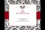 Fleurs de Noël Étiquettes d'expédition - gabarit prédéfini. <br/>Utilisez notre logiciel Avery Design & Print Online pour personnaliser facilement la conception.