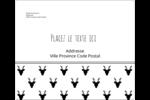 Motif de renne noir et blanc  Étiquettes d'expédition - gabarit prédéfini. <br/>Utilisez notre logiciel Avery Design & Print Online pour personnaliser facilement la conception.