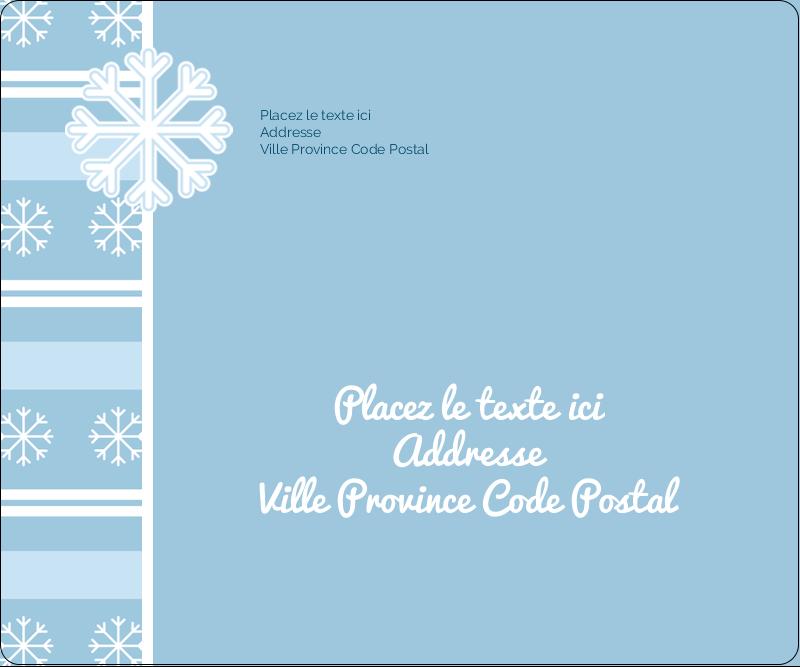 """3⅓"""" x 4"""" Étiquettes d'expédition - Les gabarits Flocon de neige bleu pour votre prochain projet des Fêtes"""