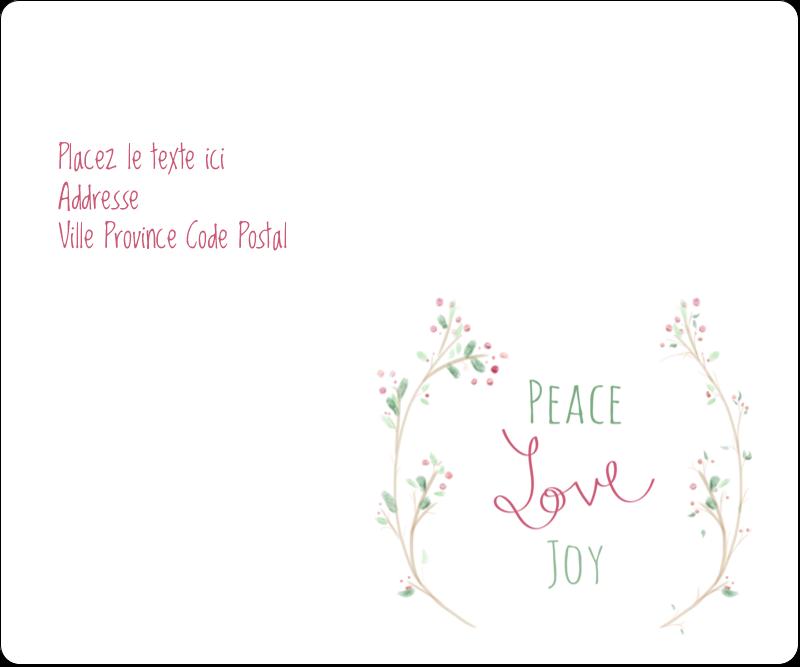 """3⅓"""" x 4"""" Étiquettes d'expédition - Les gabarits Paix, amour et joie pour votre prochain projet créatif des Fêtes"""