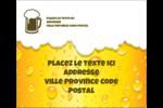 Image de bière Étiquettes d'expédition - gabarit prédéfini. <br/>Utilisez notre logiciel Avery Design & Print Online pour personnaliser facilement la conception.