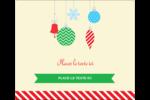Ornements de Noël Étiquettes d'expédition - gabarit prédéfini. <br/>Utilisez notre logiciel Avery Design & Print Online pour personnaliser facilement la conception.
