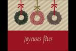 Couronnes de Noël Étiquettes d'expédition - gabarit prédéfini. <br/>Utilisez notre logiciel Avery Design & Print Online pour personnaliser facilement la conception.