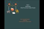 Animaux de la crèche Étiquettes d'expédition - gabarit prédéfini. <br/>Utilisez notre logiciel Avery Design & Print Online pour personnaliser facilement la conception.