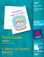 Avery<sup>®</sup> Cartes de notes pour imprimantes à jet d'encre 3268