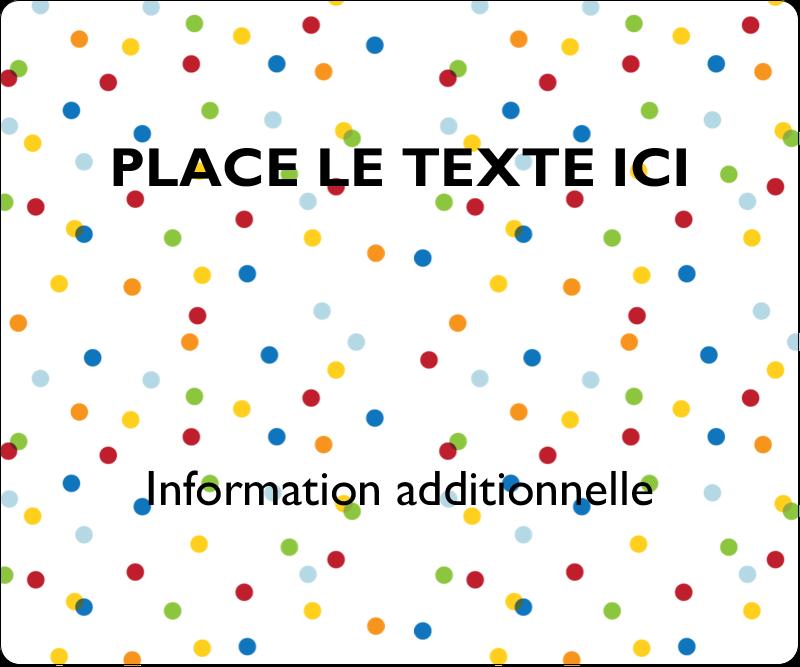"""3⅓"""" x 4"""" Étiquettes d'expédition - Confettis d'anniversaire"""
