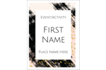 Leave an imprint with this predesigned template.