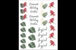 Noël tropical Cartes Et Articles D'Artisanat Imprimables - gabarit prédéfini. <br/>Utilisez notre logiciel Avery Design & Print Online pour personnaliser facilement la conception.
