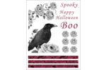 Halloween macabre à l'encre rose Cartes Et Articles D'Artisanat Imprimables - gabarit prédéfini. <br/>Utilisez notre logiciel Avery Design & Print Online pour personnaliser facilement la conception.