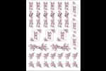 Action de grâce en bourgogne Cartes Et Articles D'Artisanat Imprimables - gabarit prédéfini. <br/>Utilisez notre logiciel Avery Design & Print Online pour personnaliser facilement la conception.