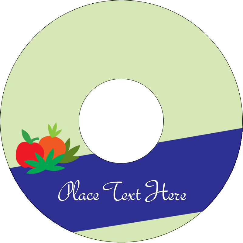 """4.65"""" CD-DVD Label - Juice Prep"""