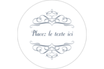 Romance Étiquettes rondes gaufrées - gabarit prédéfini. <br/>Utilisez notre logiciel Avery Design & Print Online pour personnaliser facilement la conception.