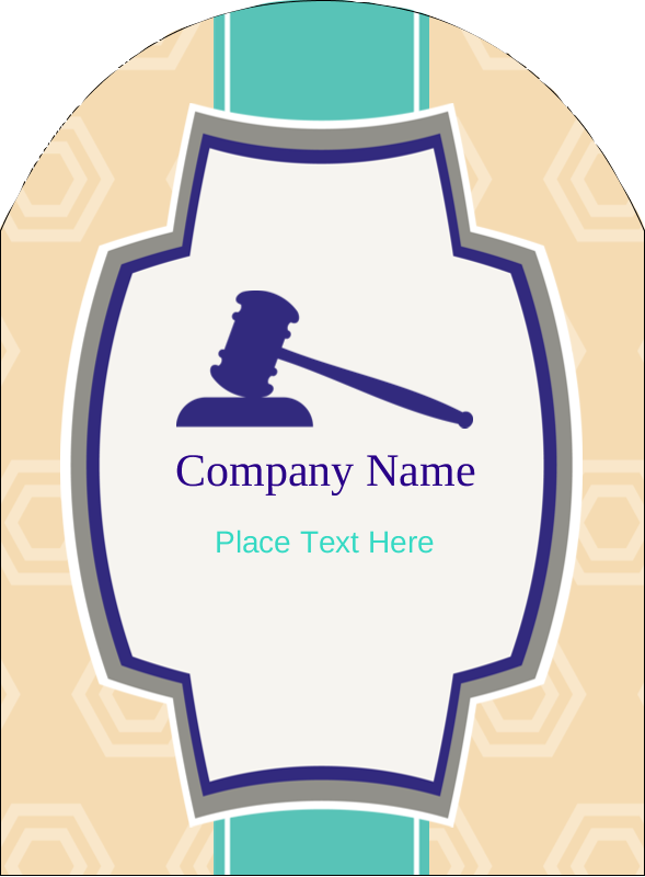 "4¾"" x 3½"" Arched Label - Gavel Purple"