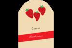 Fraises en conserve Étiquettes arrondies - gabarit prédéfini. <br/>Utilisez notre logiciel Avery Design & Print Online pour personnaliser facilement la conception.
