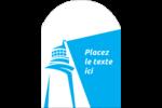 Phare bleu Étiquettes arrondies - gabarit prédéfini. <br/>Utilisez notre logiciel Avery Design & Print Online pour personnaliser facilement la conception.
