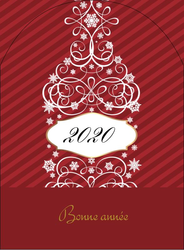 """4¾"""" x 3½"""" Étiquettes arrondies - Bouteille de champagne en spirale"""
