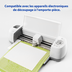 Avery<sup>®</sup> Papier Autocollant en glacé transparent pour imprimantes à jet d'encre - Avery<sup>®</sup> Papier Autocollant de projet en glacé transparent