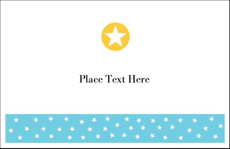 "5½"" x 8½"" Greeting Card - Blue Yellow Stars"