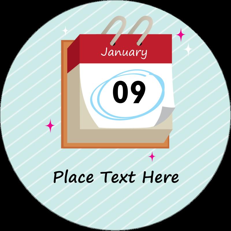 """2"""" Round Label - Birthday Calendar"""