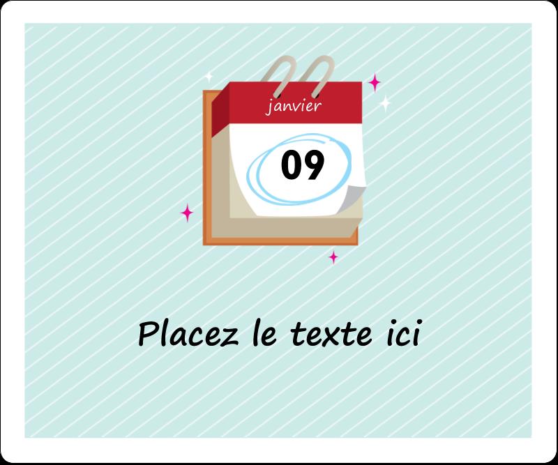 """3⅓"""" x 4"""" Étiquettes d'expédition - Calendrier d'anniversaire"""