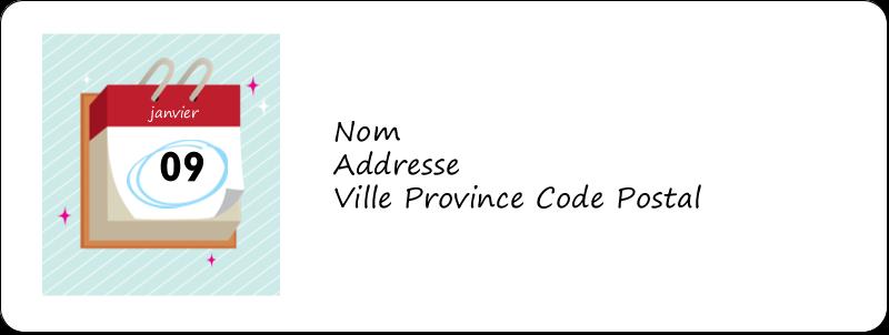 """⅔"""" x 1¾"""" Étiquettes D'Adresse - Calendrier d'anniversaire"""